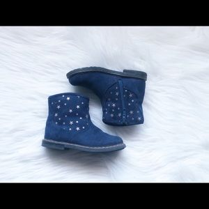 Harper Canyon Blue suede toddler boots size 7US